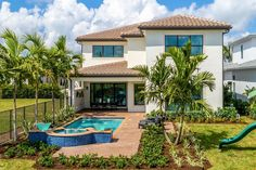 Somerset Grande Plan   Florida Real Estate - GL Homes Wood Stairs, Stair Railing, Modern House Floor Plans, House Plans, Concrete Roof Tiles, Undermount Stainless Steel Sink, Boca Raton Florida, Iron Balusters, Glass Shower Enclosures