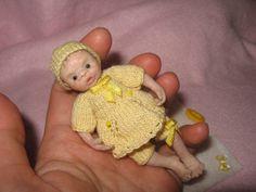 OOAK Miniature baby doll von Yuliya Y. mam-m-mi