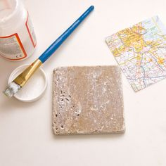 Upcycled Map Tile Coasters | POPSUGAR Smart Living