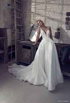 f5c92908d8 pnina tornai 2019 love bridal sleeveless deep plunging v neck light  embellishment glitzy glitter romantic glamorous
