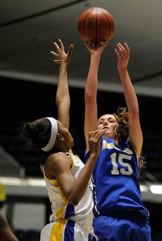 Kim Jacobs goes for the shot for Agoura against Gahr