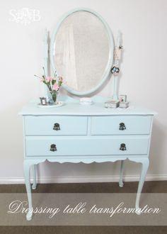 Shabby Chic dressing table makeover via HomeTalk