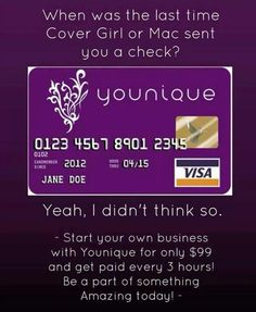 Getting paid to play with makeup!? What?! Mmhhmmmm! That is just one of the many perks of being an Independent Younique Presenter! It's so worth it!