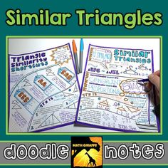 """Properties of Similar Triangles & Similarity Shortcuts - Visual Interactive """"Doodle Notes""""*This resource is also available as part of a DISCOUNTED bundle: Triangles BundleWhen students color or doodle in math class, it activates both hemispheres of the brain at the same time."""