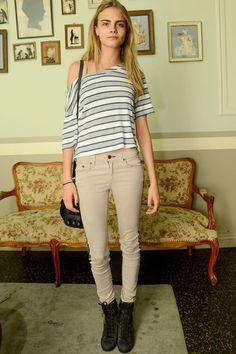El look de Cara Delevingne: Rag