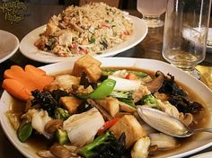 Sopas y arroz areglado !Lo mejor de la comida vegetariana!  Alajuela centro  Tel 245671231