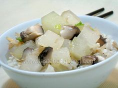 Rice in Winter Melon Soup | Hong Kong Food Blog with Recipes, Cooking Tips mostly of Chinese and Asian styles | Taste Hong Kong