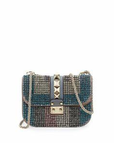 Glam Lock Crystal Shoulder Bag, Blue by Valentino at Bergdorf Goodman.