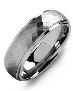 b1c52f1adf49 Matte Hammer Design Tungsten Wedding Ring What better way to commemorate  your wedding day or anniversary