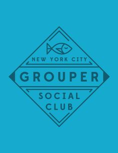 Grouper Social Club Identity and Branding by Kyle Miller Creative