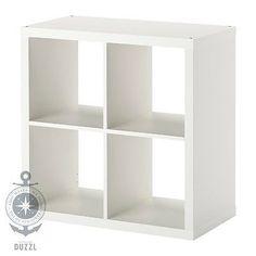 IKEA-KALLAX-Regal-weiss-77-x-77cm-Kompatibel-mit-Expedit-Wandregal-Buecherregal