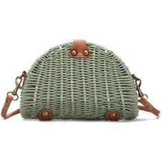 Yoins Green Straw-woven Shoulder Bag With Flap Top ($19) ❤ liked on Polyvore featuring bags, handbags, shoulder bags, straw handbags, flap shoulder bag, shoulder handbags, straw shoulder bag and hand woven bags