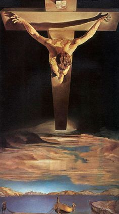 Salvador Dali Christ, St John of the Cross 1951...a strange artist who seems to have lost his balance at times...