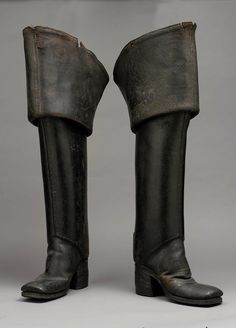 Pair of Men's Leather Boots, English, 1700-1710.