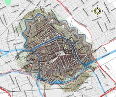 Groningen City Map  1700-1861