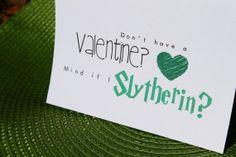 Mind if I Slytherin? - Harry Potter Valentine's Day Card - $2.75