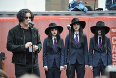"Jack White Photos: Stephen Colbert & Jack White Promote ""Stephen Colbert With The Black Belles"""