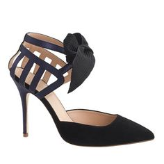 NEED THESE! | J.Crew - Collection caged bow pumps | statement heels | kendallspelhaug.com