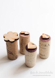Sellos con corchos y formas de madera