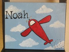 Very simple plane to paint for decor.