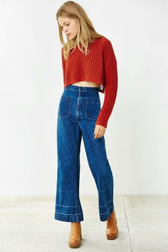 Ecote Amelia Cropped Sweater - Urban Outfitters