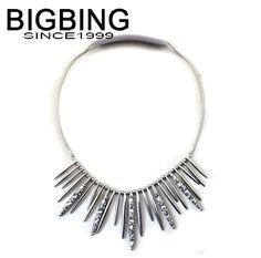 BIGBING ювелирные изделия серебряными кистями кристалл свитер цепи оптовые ювелирные изделия высокого качества никель бесплатно бесплатная доставка J144купить в магазине BigBing Fashion MallнаAliExpress