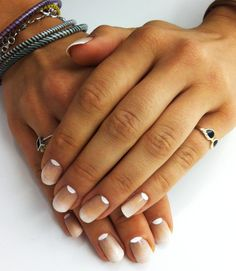 Reverse French manicure and ombre