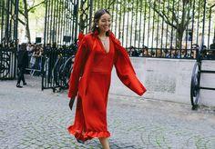 Rachael Wang in a Vetements dress