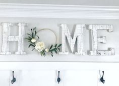 "This peony and Olive Branch hoop wreath adds the perfect modern farmhouse touch to your home. It even makes a great letter ""O"" in HOME or WELCOME or L. Home Living Room, Living Room Decor, Entryway Decor, Wall Decor, Wall Art, Home Detox, Entry Tables, Farmhouse Decor, Modern Farmhouse"