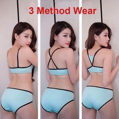 68ee2e239e Bezelye Girl Bra Underwear Set Cup Cotton Teens Bras for Children 1 Set Cute  Students Teenagers Training Bra 32 34 36 38 40