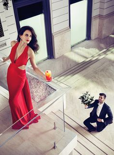 Lady in red-Eva Green for the Campari calendar