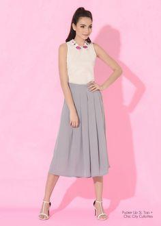 Lookbook - Plains and Prints Waist Skirt, Midi Skirt, High Waisted Skirt, Fashion Model Poses, Fashion Models, Happy Skin, Spring Summer 2016, Skirts, Dresses