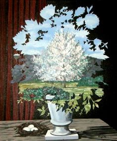 Magritte ----this would be a good lesson about negative space, still life painting, and also the surrealist movement!