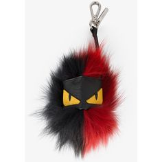 Fendi Black And Red Monster Key Ring ($580) ❤ liked on Polyvore featuring accessories, mitt and fendi