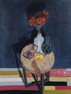 """Saatchi Art Artist Nina Bucur; Painting, """"Side Table"""" #art"""