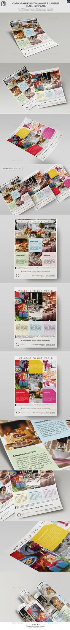 Food Catering - Flyer Template Flyers, Catering and Flyer template - for rent flyer template