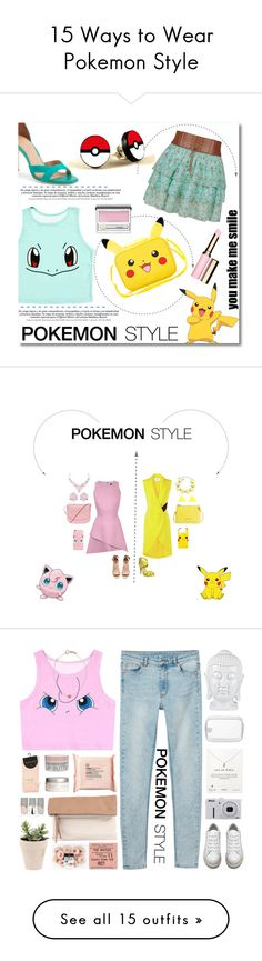 """""""15 Ways to Wear Pokemon Style"""" by polyvore-editorial ❤ liked on Polyvore featuring Pokemon, waystowear, York Wallcoverings, Joie, Clarins, Clinique, pokemonstyle, Rebson, Prabal Gurung and H&M"""