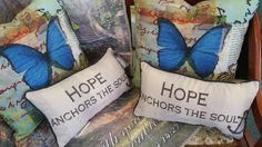 Inspirational pillows.  www.oquinnchristianbookstore.com