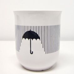 Simple pleasures: a hot cup of coffee on a cold rainy day