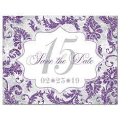 b737d12cce Sparkle like the diamond you are with this stunning winter sparkle  Quinceanera save the date card