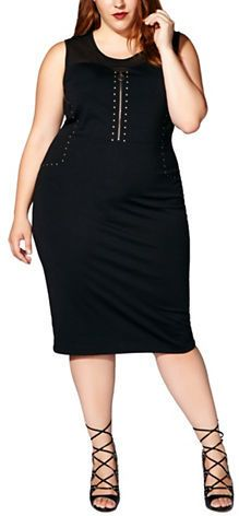 Mblm By Tess Holiday Plus Sleeveless Studded Dress