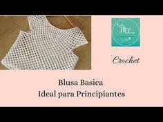 BLUSA TEJIDA A CROCHET ideal para principiantes (teje tu primer blusa) - YouTube Crochet Blouse, Knit Crochet, Crochet Stitches, Crochet Patterns, Crochet Videos, Crochet Clothes, My Favorite Things, Knitting, Women