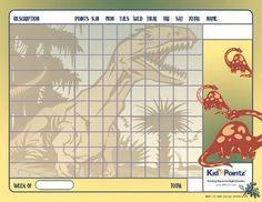 Charts for Kids | Dinosaur Theme | Kid Pointz