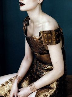 """""""full metal glamour (detail)"""": guinevere van seenus wears rodarte in vogue china april 2011, by josh olins"""