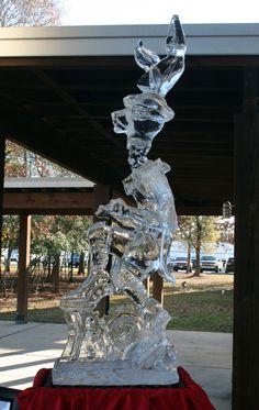 Professor McGillacudys Articulated Wild Hare. Steampunk on ice! #iceworkshouston #tjmaclaskey #icesculpture