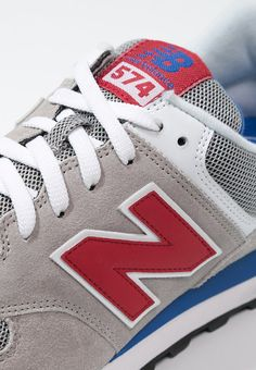 New Balance ML574 Sneaker mox grey/red