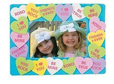 Conversation Heart Valentine's day heart Picture Frame Craft Kit- Pack of 12 Kits
