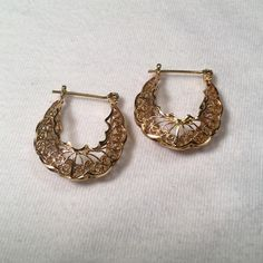 "NWOT STERLING SILVER 14Kt gold overlay earrings New without tags..measures. 1"" drop Sterling silver Jewelry Earrings"