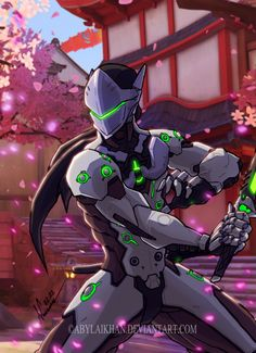 Genji-Overwatch (color) by Abylaikhan on DeviantArt