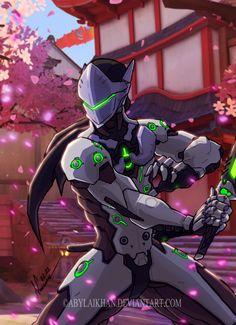 Genji-Overwatch (color) by Abylaikhan on DeviantArt